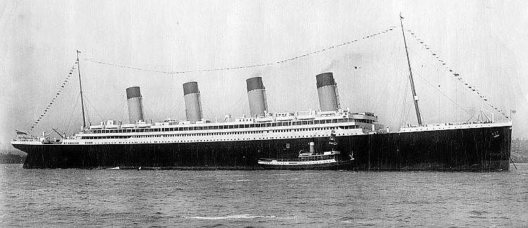 Postcard view of RMS Olympic